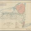 Map of the State of New York: showing the distribution of the rocks most useful for road material