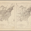 Map showing, in five degrees of density, the distribution, within the territory east of the 100th Meridian, of the population of the United States, (excluding Indians not taxed): compiled from the returns of population at the...census of the United States
