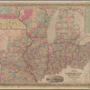Guide through Ohio, Michigan, Indiana, Illinois, Missouri, Wisconsin & Iowa: showing the township lines of the United States surveys, location of cities, towns, villages, post hamlets, canals, rail and stage roads