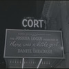 Marquee of the Cort Theatre during the stage production There Was a Little Girl