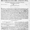 Allgemeine Musikalische Zeitung, Vol. 1, no. 1