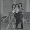 Cynthia Onrubia (left) and two unidentified performers during rehearsal for the stage production Song and Dance