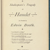 Shakespeare's tragedy of Hamlet as presented by Edwin Booth, (copy 1)