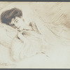 Photograph of sketch of Princess Troubetzkoy (Amélie Rives) done by her husband Prince Troubetzkoy