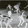 Jerome Robbins and students of the School of American Ballet in a performance of his Circus Polka ballet
