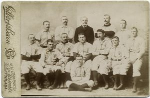 Philadelphia Baseball Club, P., 1892, Allen, Reilly, Thompson, Harry Wright, Connor, Hallman, Hamilton, Delahanty, Clements, Keefe, Cross, Weyhing, Carsey