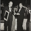 George Avakian presents Bob Newhart with his first Grammy award