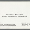 George Avakian's RCA business card