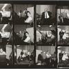 Contact sheet of Benny Goodman, Gene Krupa, Teddy Wilson, Lionel Hampton, and George Avakian recording Together Again