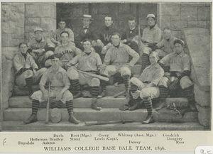 Brown University Base Ball Club, 1896; Williams College Base Ball Club, 1896