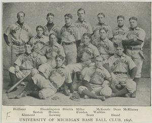 University of Michigan Base Ball Club, 1896; University of Virginia [...], 1896