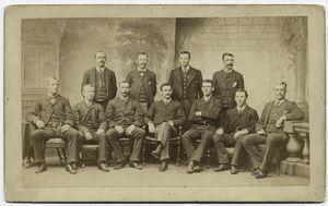 Boston club, Hornung, Sutton, Wise, Burdock, Buffinton, Radford, Whitney, Morrill, Mike Hines, Hackett, Smith, National League champions, 1885