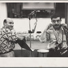 George and Aram Avakian in recording studio
