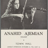 Town Hall program featuring Anahid Ajemian with her violin