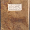Account book and ledger of British Army in America