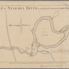 Map of Niagara River or the straits between the Lakes Erie and Ontario