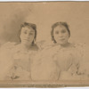 Portrait of William Stanley Braithwaite's sisters, Eva and Rosie, as the musical duo Sadie and Rosie, the De Wolfe Sisters, circa 1890s
