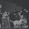 Andrea McArdle, Sandy, and Hooverville-ites in a scene from the Broadway stage production of the musical Annie