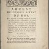 Arrest du conseil d'état du roi, qui supprime le privilege exclusif de la traite des noirs à Gorée et dépendances