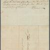 Letter  from Abram Van Buren as testimonial on the indenture of the boy, Nat