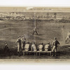 "Drawing from"" Harper's Weekly"" of July 2, 1870, Baseball -- the match between the Red Stockings and the Atlantics, Sketched by C. S. Reinhart"