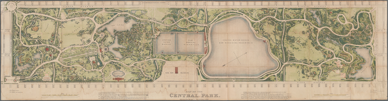 Map of the Central Park, 1873