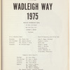 The Wadleigh Way: 1975