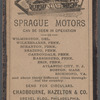 Sprague Motors advertisement