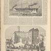 Royal Mail Steamship America, Leaving Boston; A Masquerade scene at Cologne, Prussia, vol. VI, no. 24, p. 380