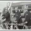 """Three """"Gay Nineties"""" policemen, helping the Hospital Fund Drive in Valley Stream, N.Y."""