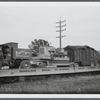 Circus train on a siding at Garden City, Long Island