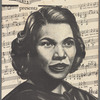 Portrait of singer Marian Anderson on concert program cover, circa 1951