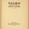 Negro anthology: 1931-1933