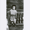Studio portrait of Arthur Alfonso Schomburg as a young child in Puerto Rico, age 4