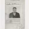 Portrait of Arthur Alfonso Schomburg from his United States passport, issued 1926