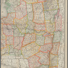 New railroad, county and township map of New York: showing every railroad station and post office in the state