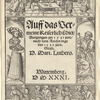 Title page with images of The Feast of Herod (top), Herodias with the head of St. John the Baptist (left), the Executioner (right), and Salome's Dance (bottom)