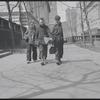 Shoe shine boys, Bryant Park. New York, NY