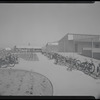 Schoolyard and bicycles