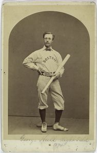 George Hall, Boston Red Stockings, 1874, right field