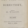New York City directory, 1863/64