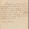 Lord Wycombe to George Washington