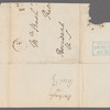 Autograph cover addressed to Oliver Wolcott