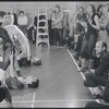 Bob Fosse (kneeling) in rehearsal for the stage production Dancin'
