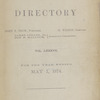 New York City directory, 1873/74