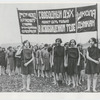 Isadora Duncan School (Moscow) students holding sign