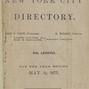 New York City directory, 1874/75