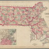 Map of Massachusetts: comprising counties, towns, villages, railroads, stations, etc.