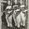 Dorothy Jones, Libby Robinson, and Ruth Moore as penguins
