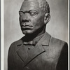 Booker T. Washington, portrait bust in patined plaster